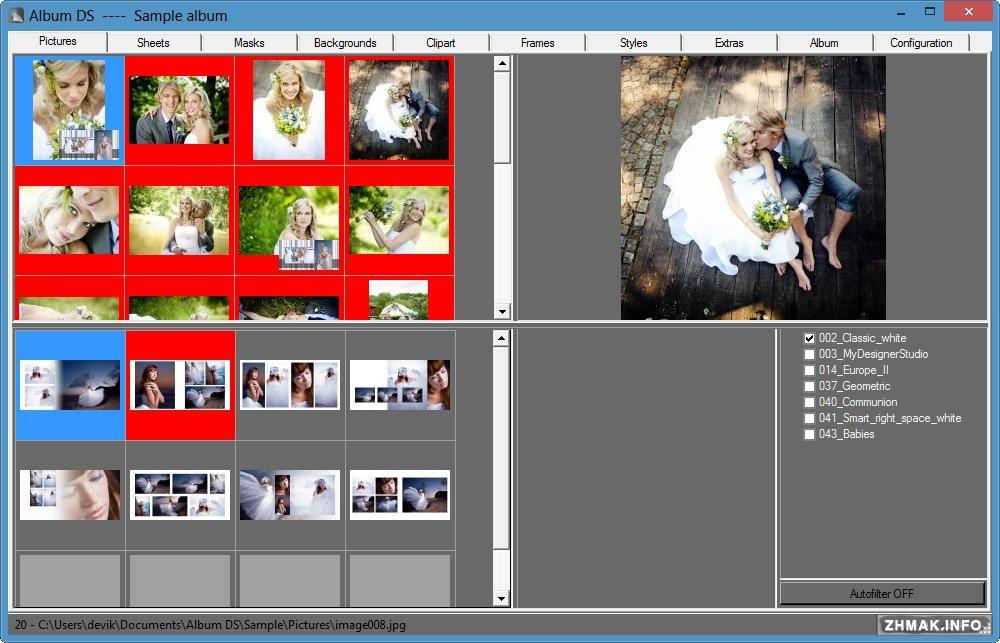 Скачать программу Album DS 9.2.4 for Adobe Photoshop CS-CC (x86 x64) беспла