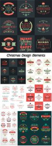 Design elements Christmas vector