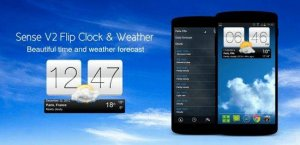 Sense V2 Flip Clock and Weather v.1.01.09 (2016/RUS/Android)