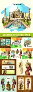 Beautiful illustrations India